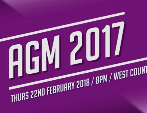 AGM 2017 – February 22 @ 8:00 pm
